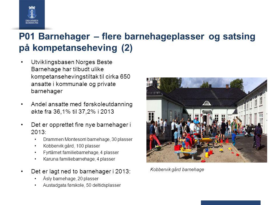 P01 Barnehager – flere barnehageplasser og satsing på kompetanseheving (2)