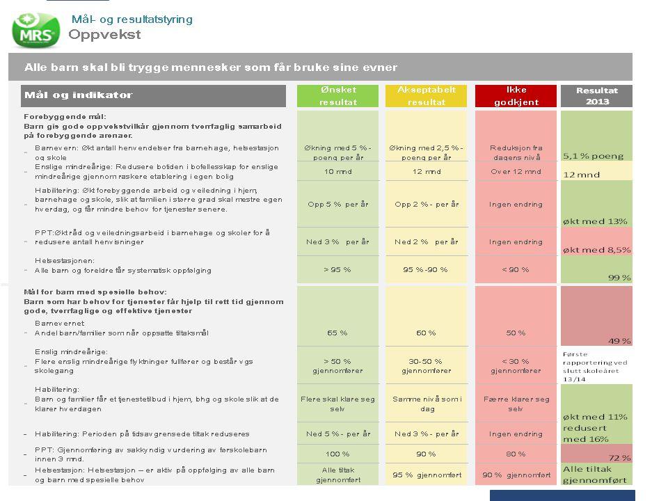 Senter for oppvekst har i stor grad nådd målene i 2013