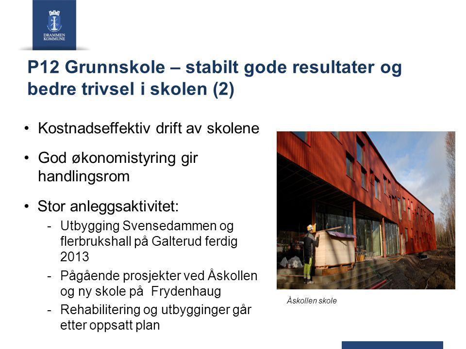 P12 Grunnskole – stabilt gode resultater og bedre trivsel i skolen (2)