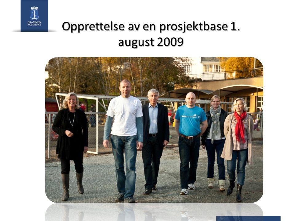 Opprettelse av en prosjektbase 1. august 2009