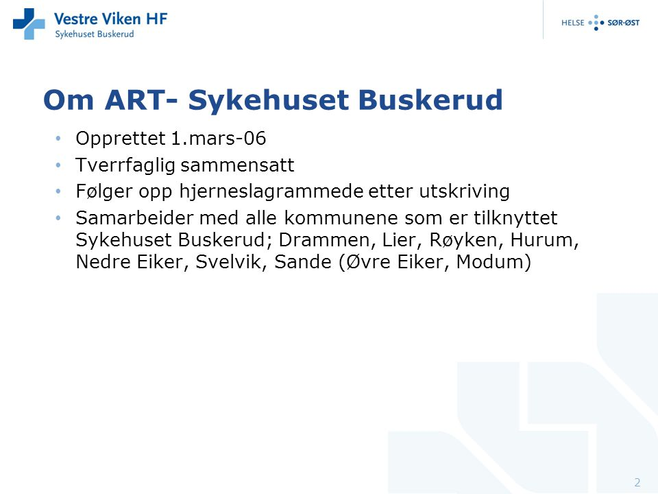 Om ART- Sykehuset Buskerud