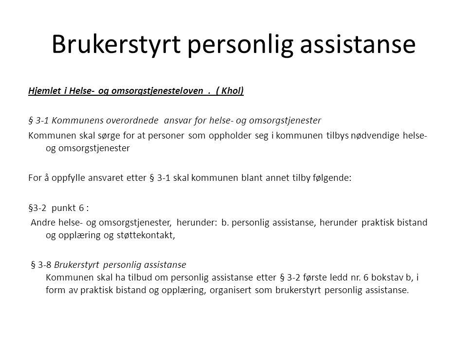 Brukerstyrt personlig assistanse