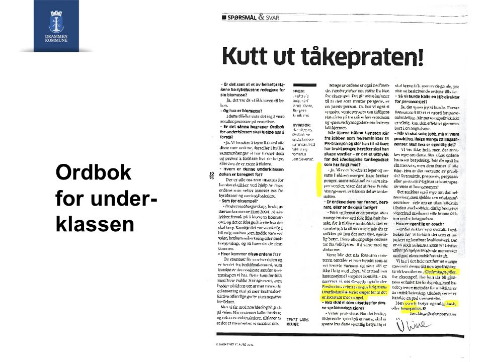 Ordbok for under-klassen