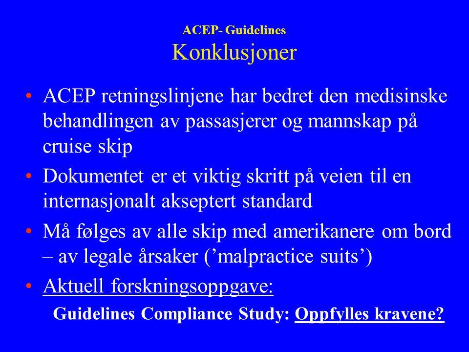 ACEP- Guidelines Konklusjoner
