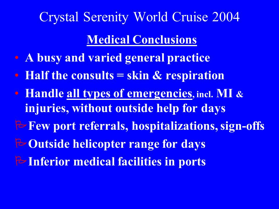 Crystal Serenity World Cruise 2004
