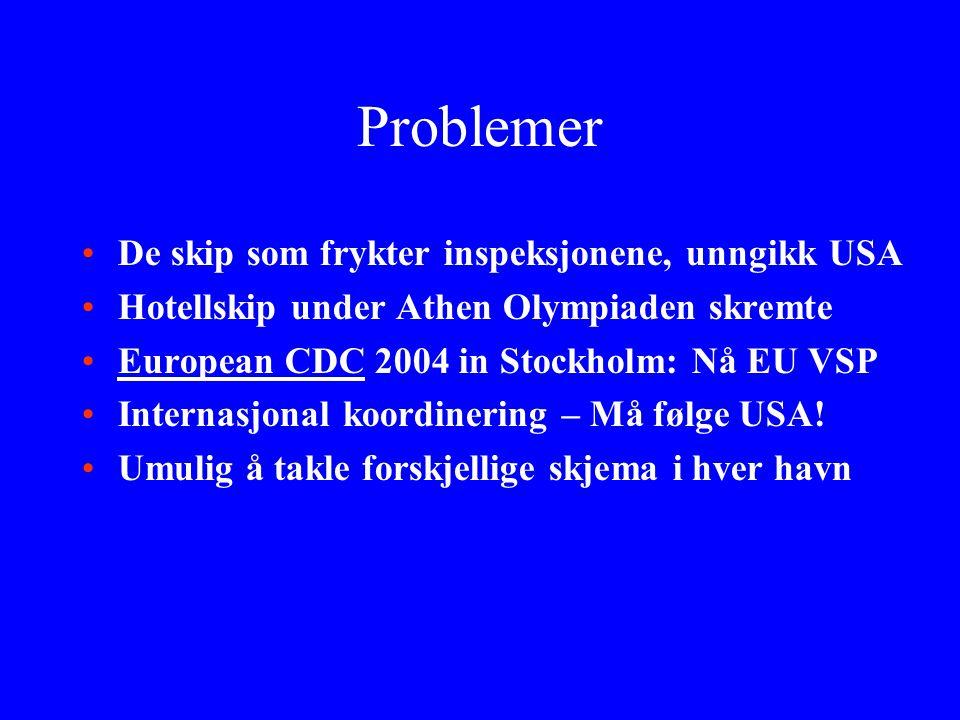 Problemer De skip som frykter inspeksjonene, unngikk USA