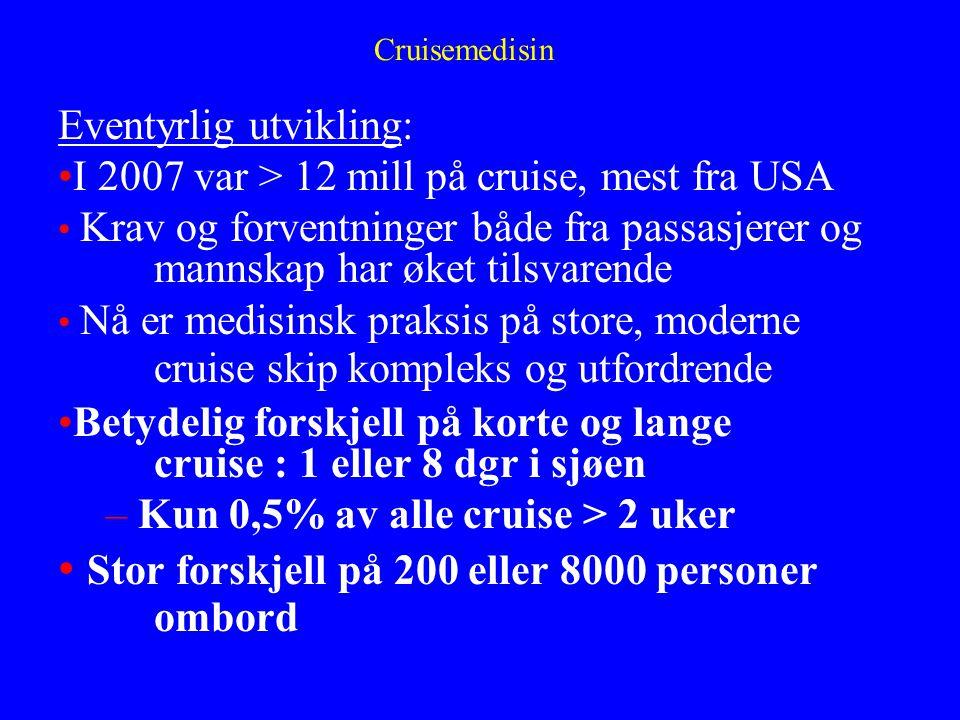 Stor forskjell på 200 eller 8000 personer ombord