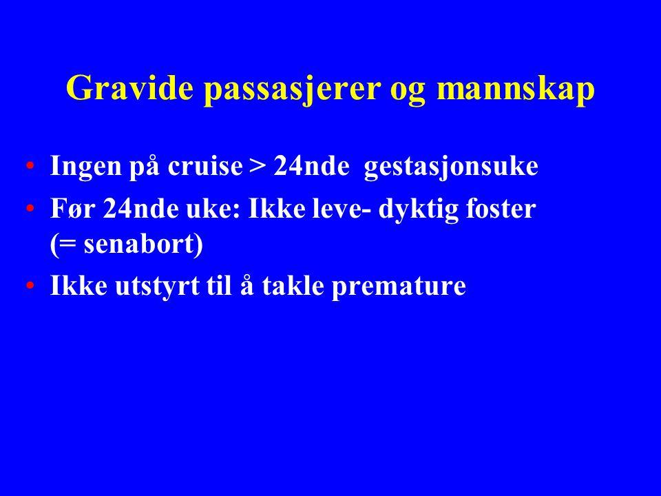 Gravide passasjerer og mannskap