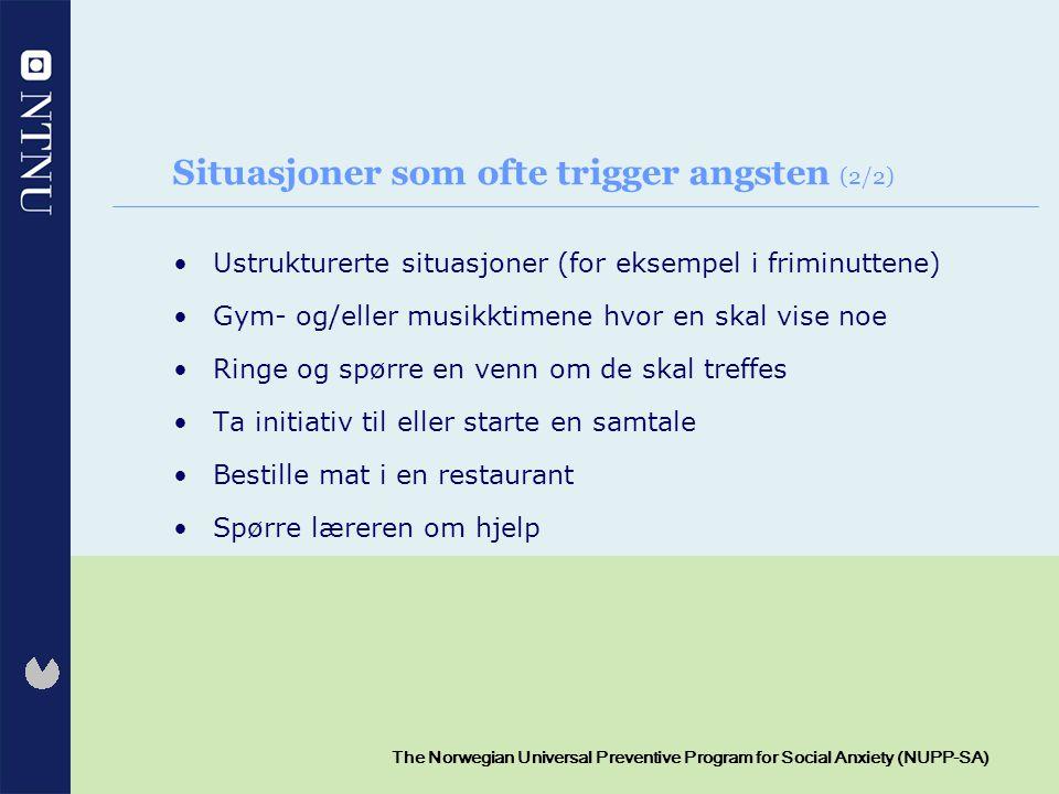 Situasjoner som ofte trigger angsten (2/2)