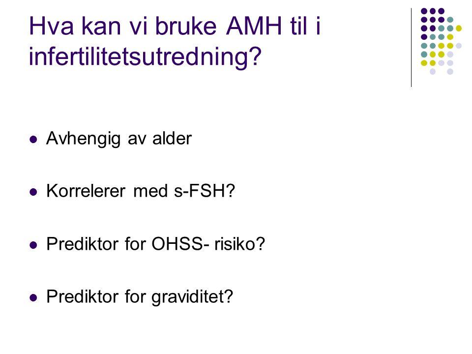 Hva kan vi bruke AMH til i infertilitetsutredning