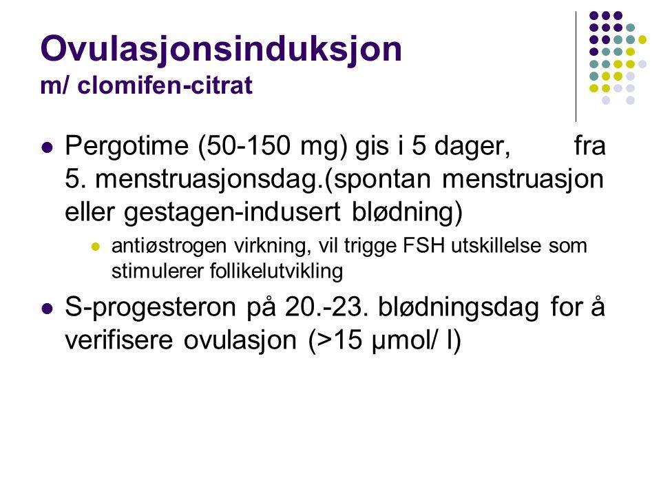 Ovulasjonsinduksjon m/ clomifen-citrat