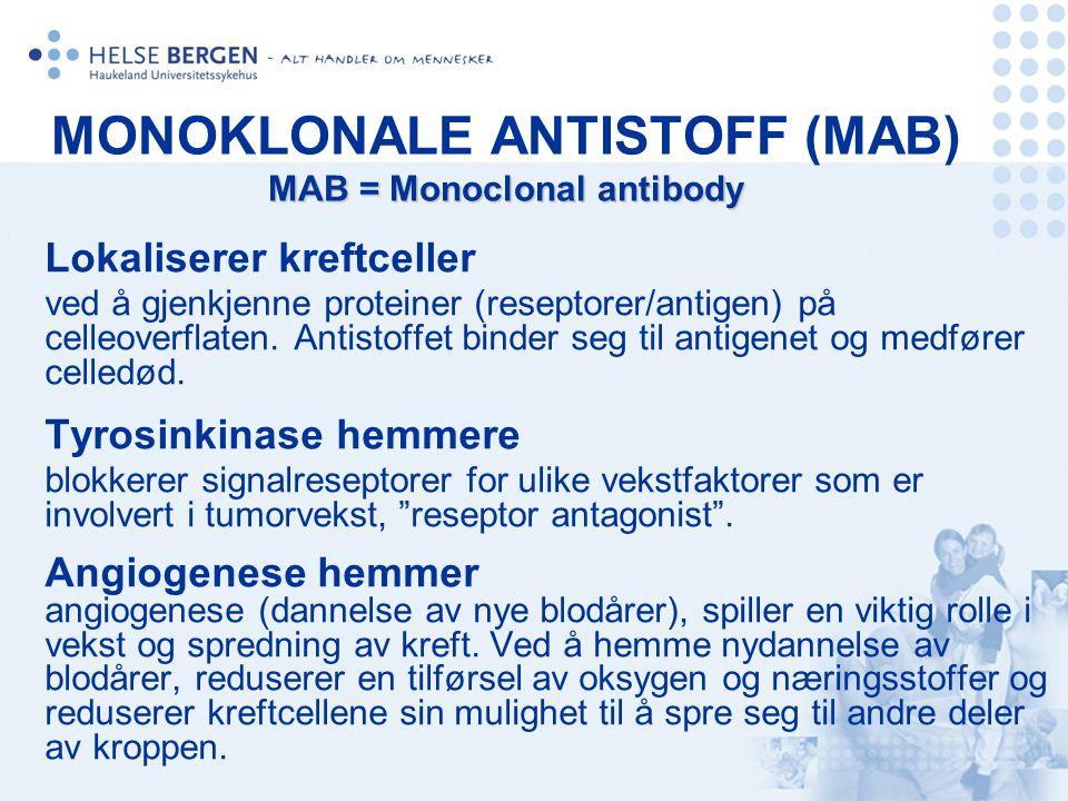 MONOKLONALE ANTISTOFF (MAB) MAB = Monoclonal antibody