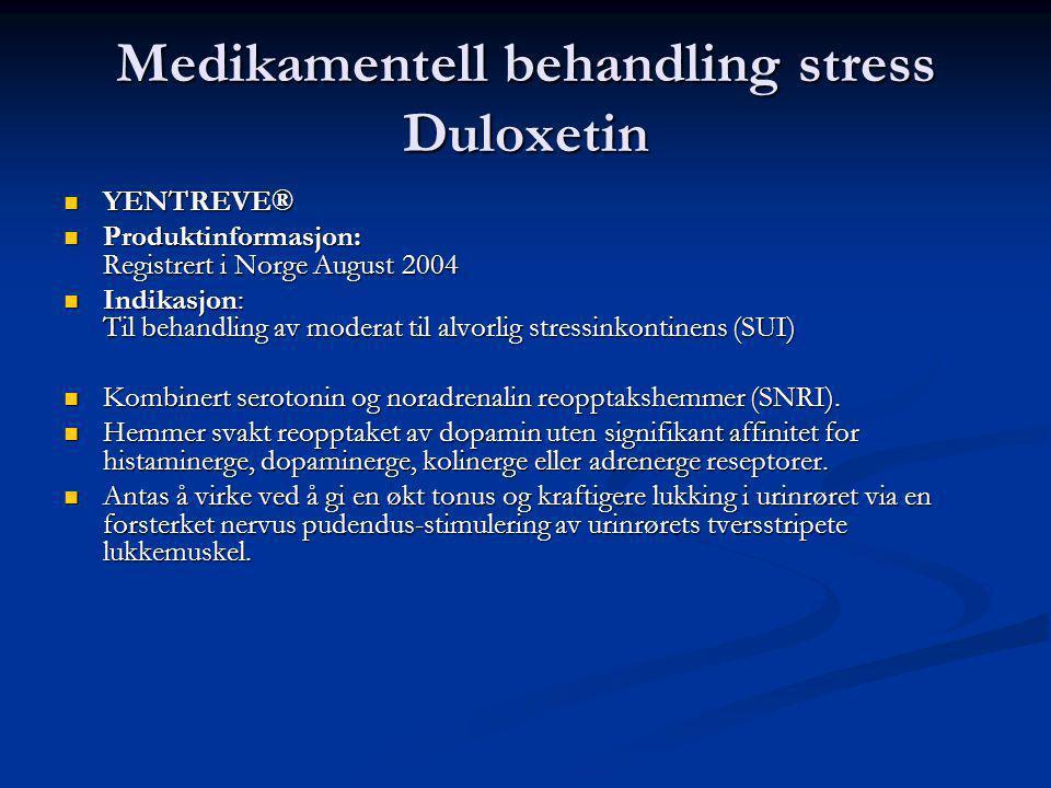 Medikamentell behandling stress Duloxetin