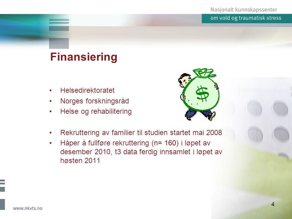 Finansiering Helsedirektoratet Norges forskningsråd