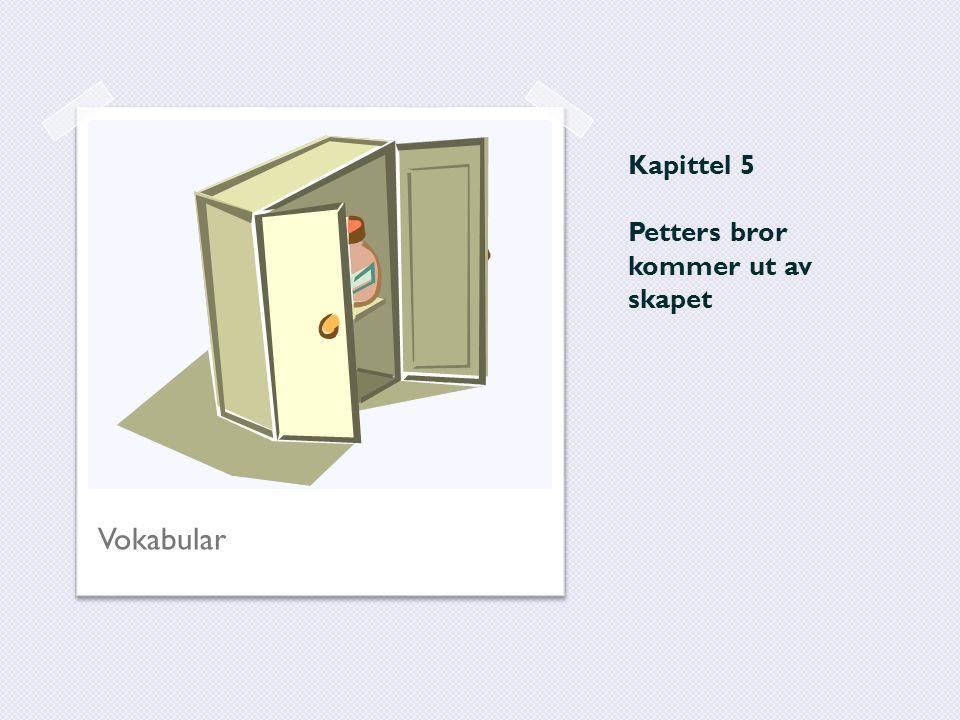 Kapittel 5 Petters bror kommer ut av skapet