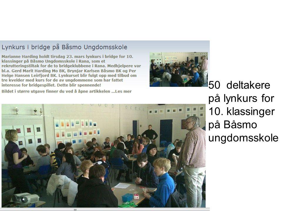 50 deltakere på lynkurs for 10. klassinger på Båsmo ungdomsskole