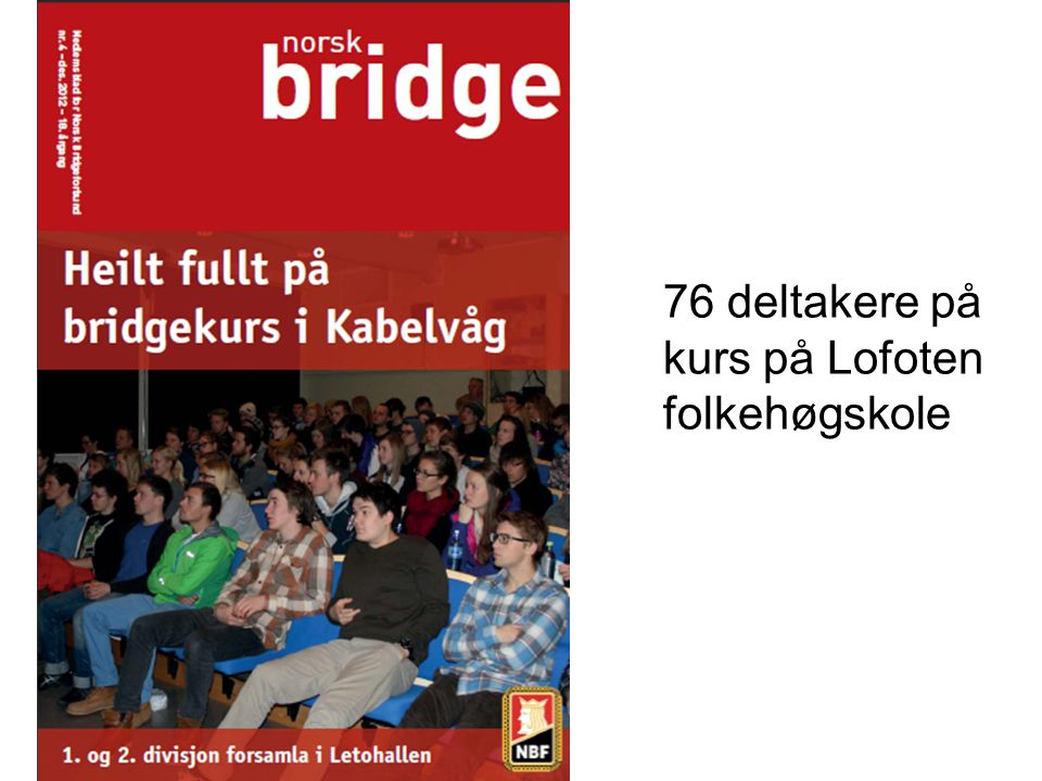 76 deltakere på kurs på Lofoten folkehøgskole