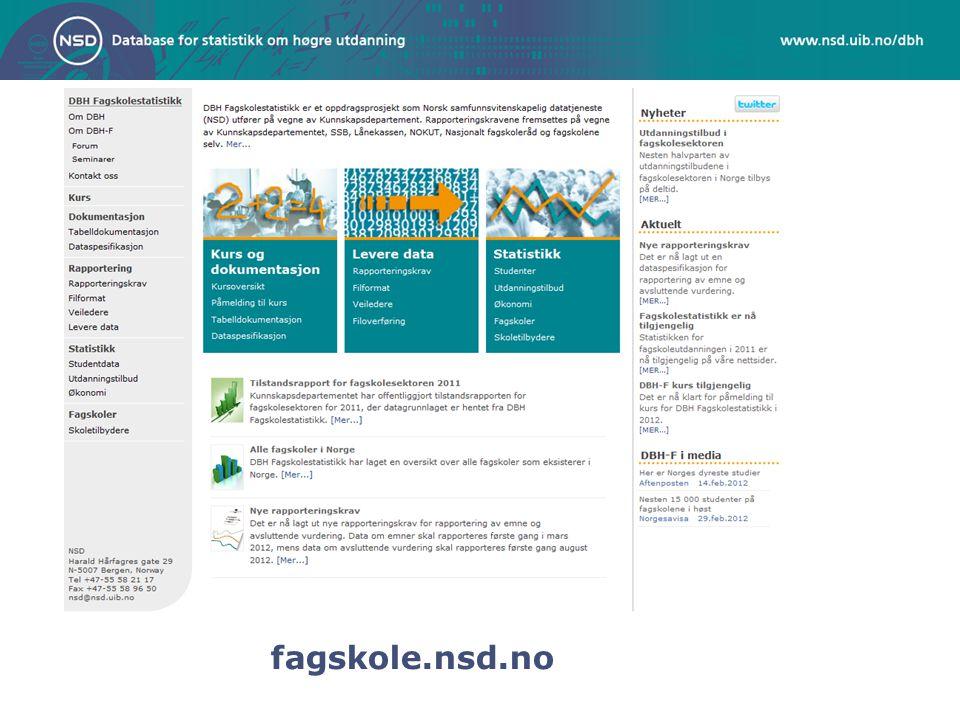 fagskole.nsd.no