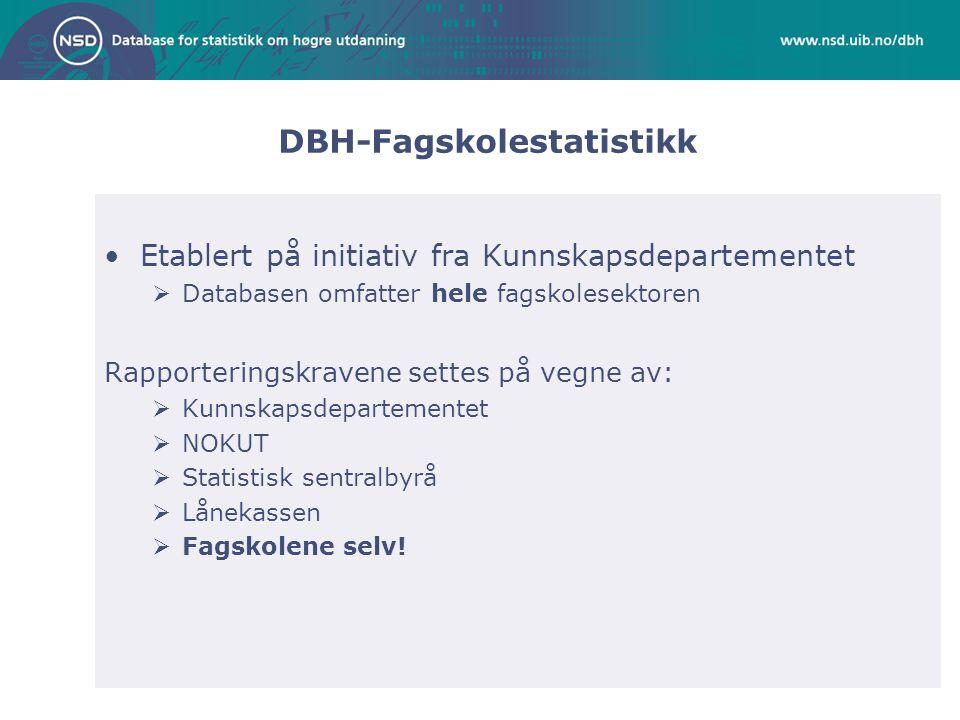 DBH-Fagskolestatistikk