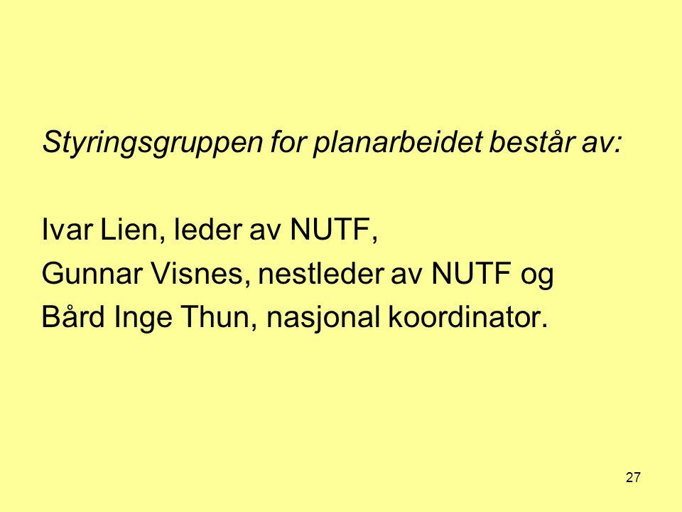 Styringsgruppen for planarbeidet består av: