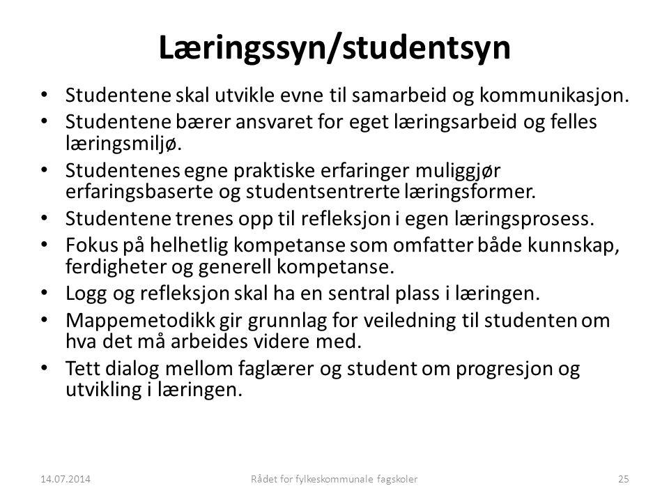 Læringssyn/studentsyn