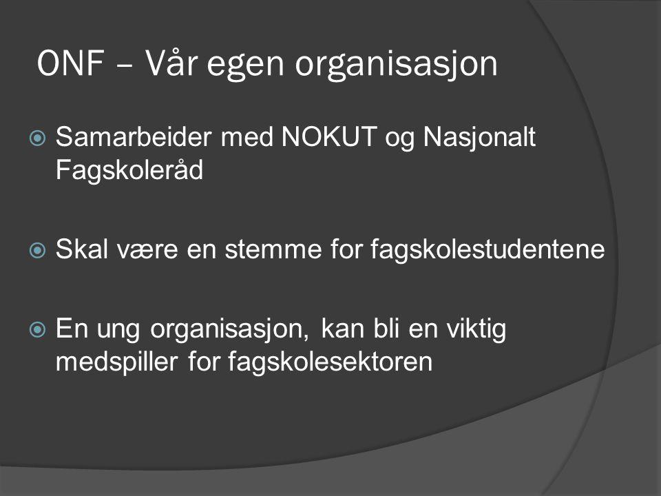 ONF – Vår egen organisasjon