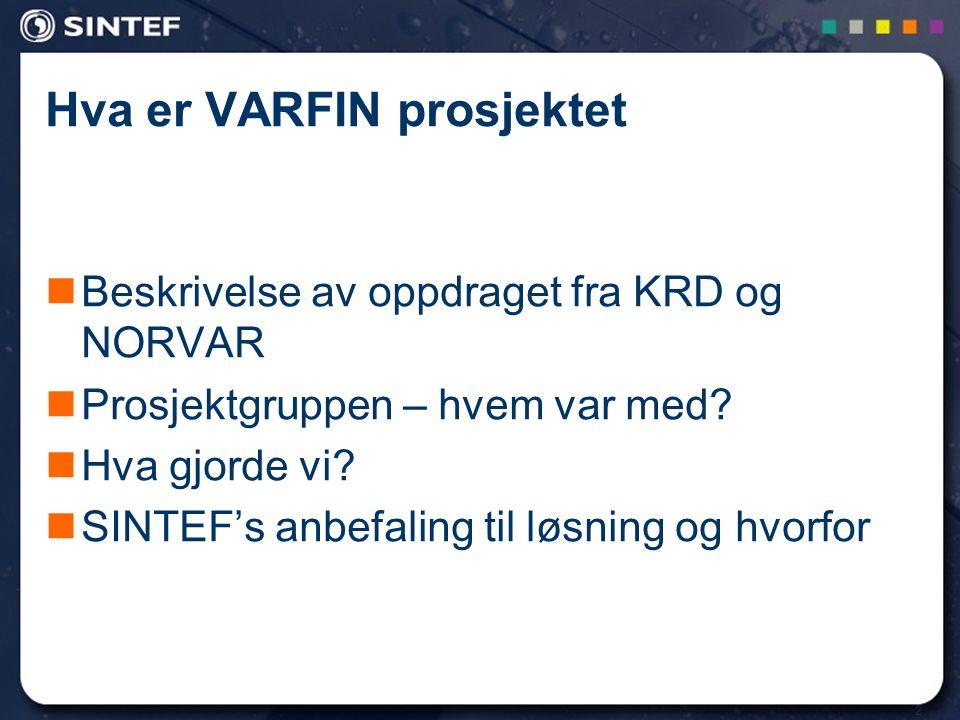 Hva er VARFIN prosjektet