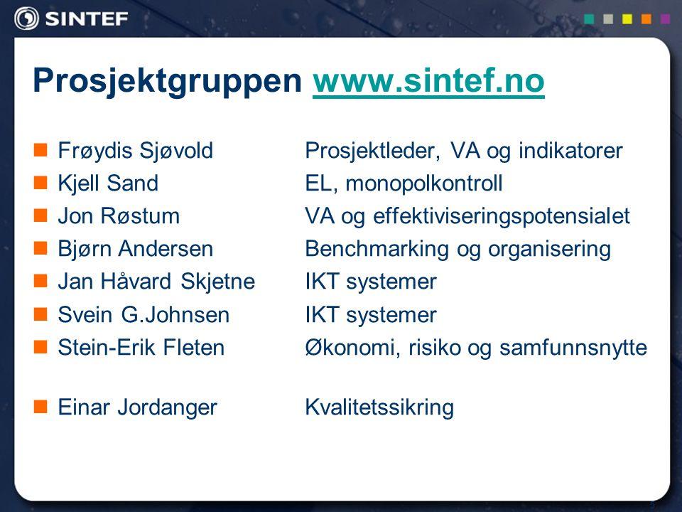 Prosjektgruppen www.sintef.no
