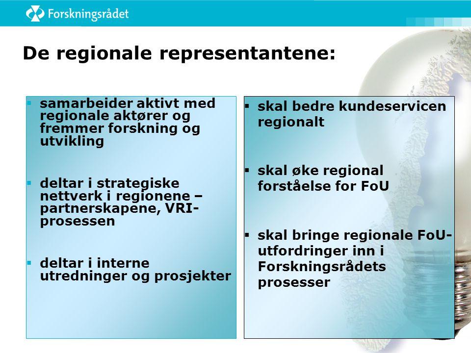 De regionale representantene: