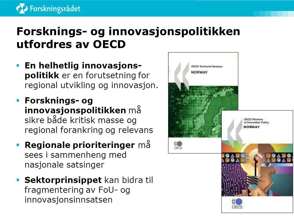 Forsknings- og innovasjonspolitikken utfordres av OECD