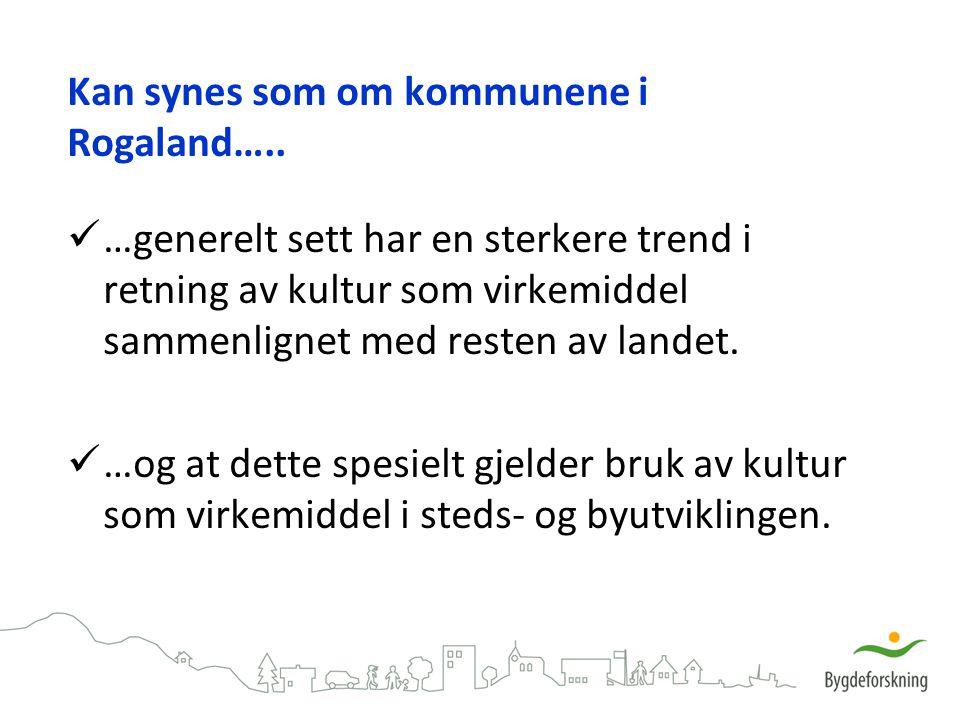 Kan synes som om kommunene i Rogaland…..
