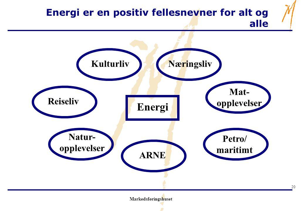 Energi er en positiv fellesnevner for alt og alle
