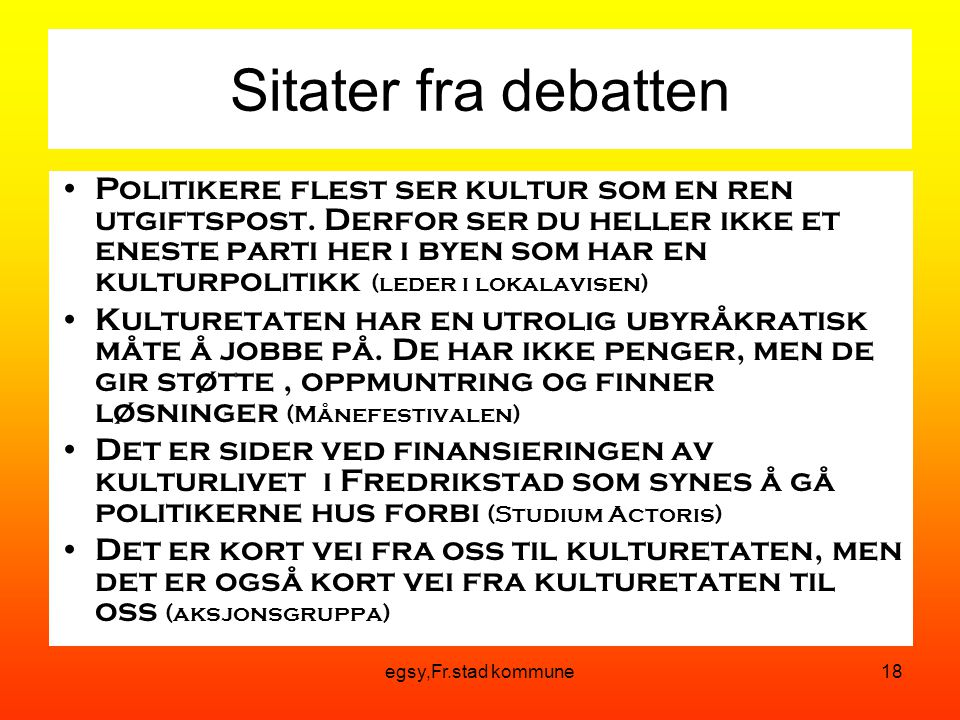 Sitater fra debatten