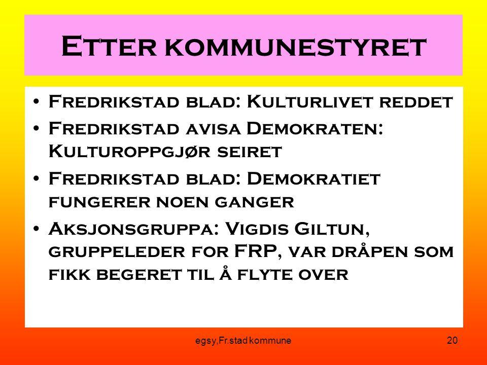 Etter kommunestyret Fredrikstad blad: Kulturlivet reddet