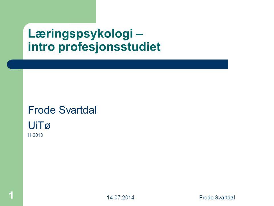 Læringspsykologi – intro profesjonsstudiet