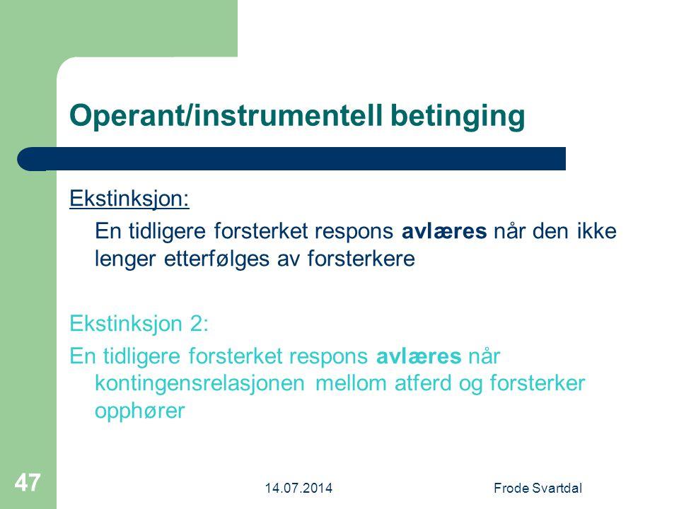 Operant/instrumentell betinging