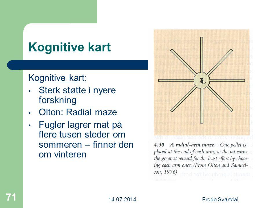 Kognitive kart Kognitive kart: Sterk støtte i nyere forskning