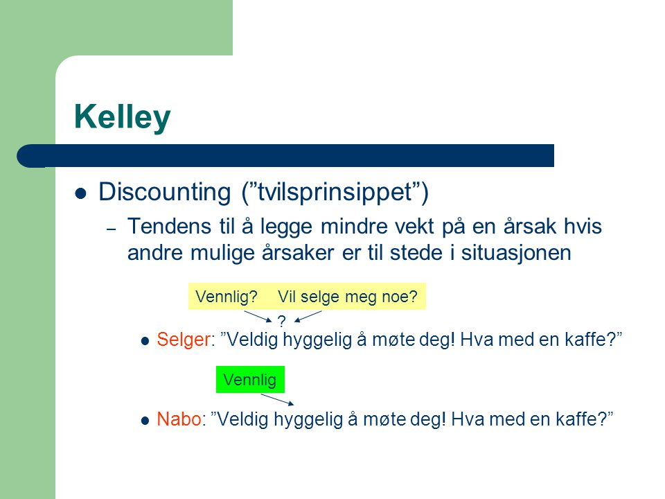 Kelley Discounting ( tvilsprinsippet )