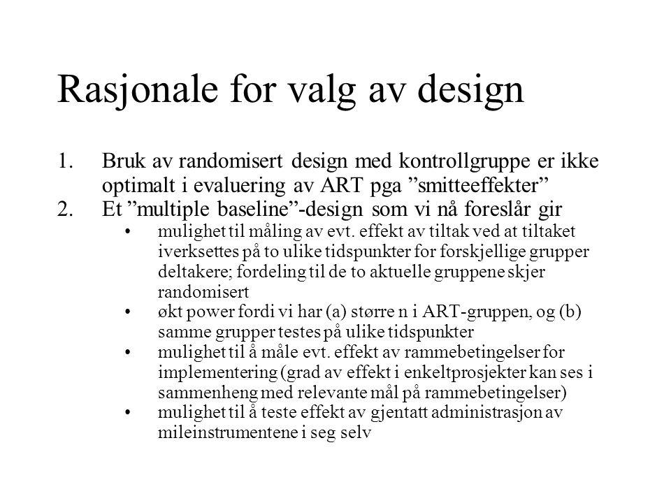 Rasjonale for valg av design
