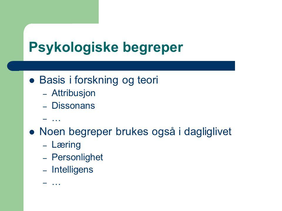 Psykologiske begreper