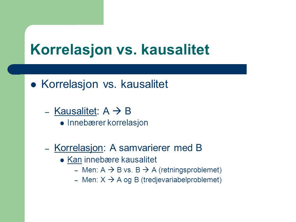 Korrelasjon vs. kausalitet