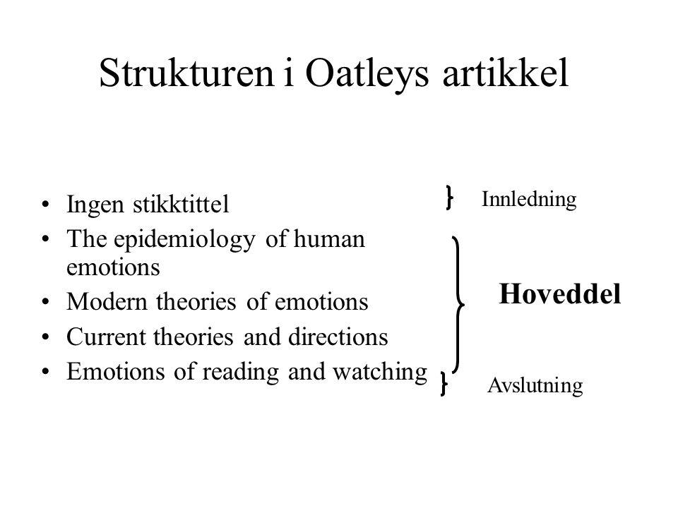 Strukturen i Oatleys artikkel
