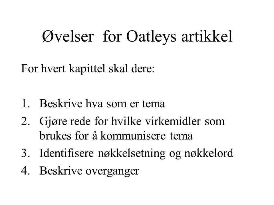 Øvelser for Oatleys artikkel