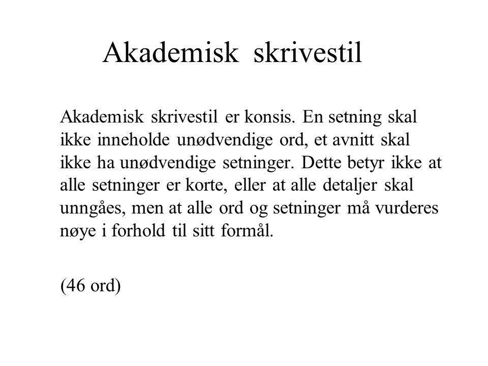 Akademisk skrivestil