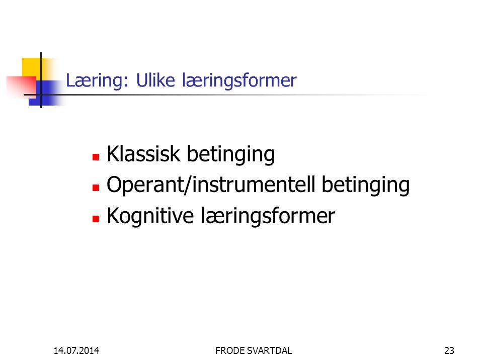 Læring: Ulike læringsformer