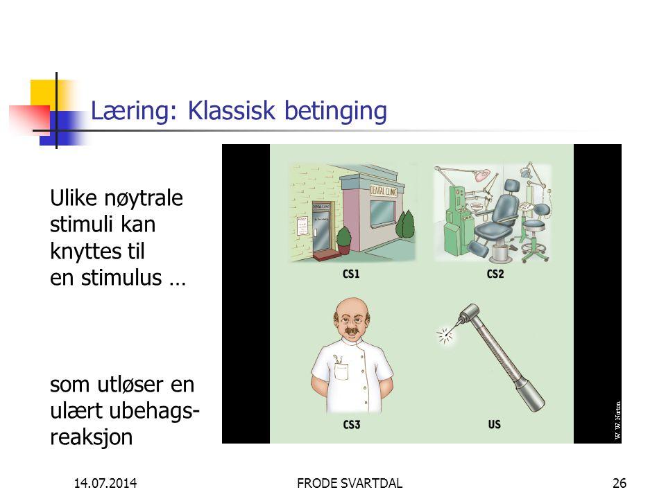 Læring: Klassisk betinging
