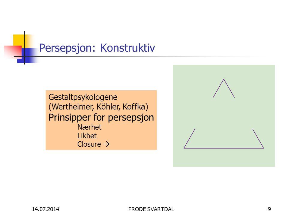 Persepsjon: Konstruktiv