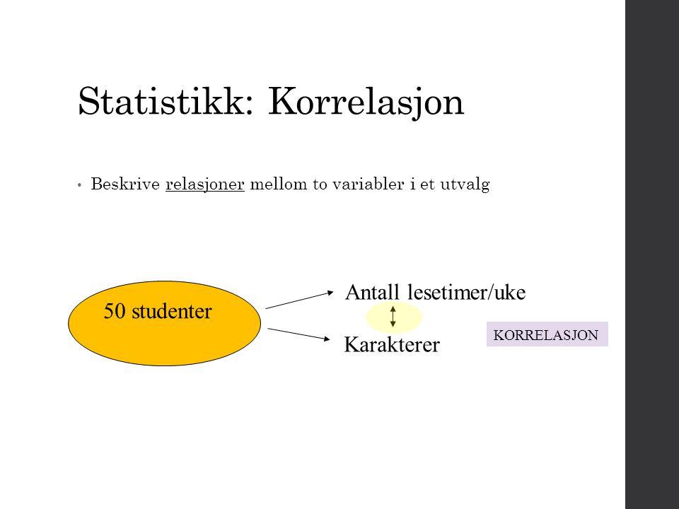 Statistikk: Korrelasjon
