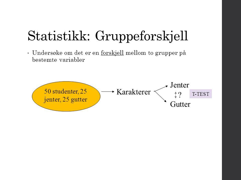 Statistikk: Gruppeforskjell
