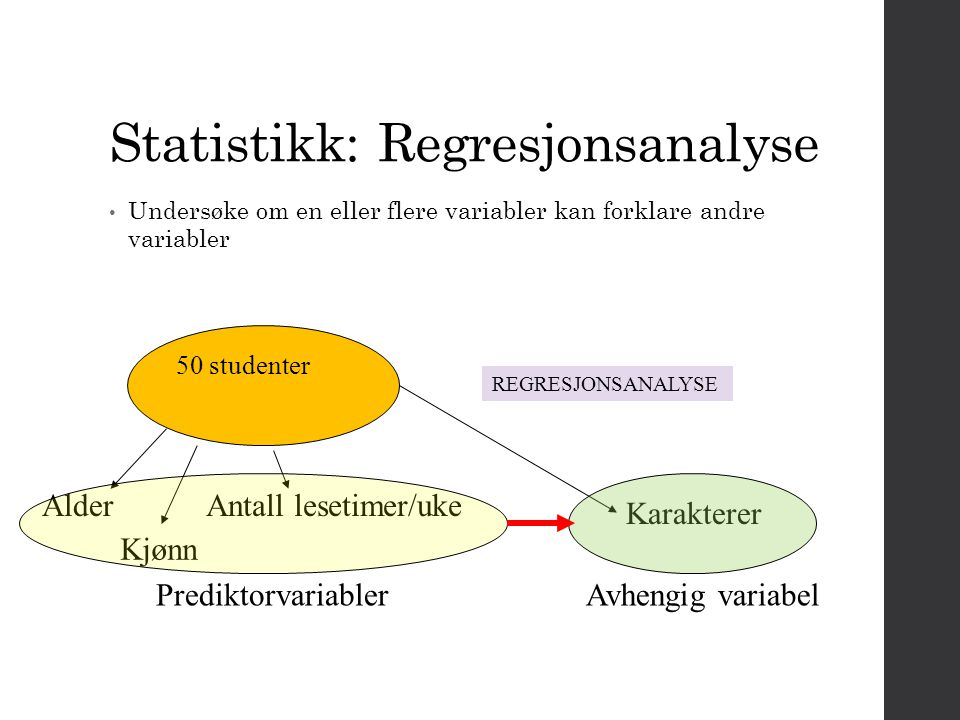 Statistikk: Regresjonsanalyse